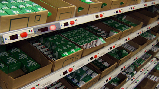 Pick-by-Light System for retail order picking