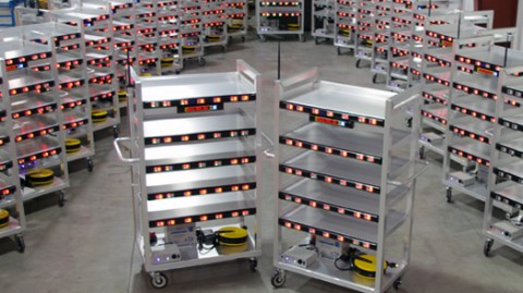 Mobile Picking Carts Support Wave, Batch Picking of Multiple Orders Simultaneously.