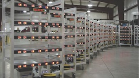Light-directed mobile picking carts highlighted in Modern Materials Handling's June 2014 issue.