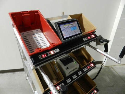 Mobile Picking Carts That Support Simultaneous Wave, Batch Picking of Multiple Orders at ProMat 2015.