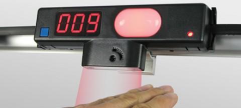 Photo-eye sensor pick-to-light for light curtain.