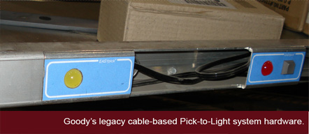 Legacy pick-to-light system.
