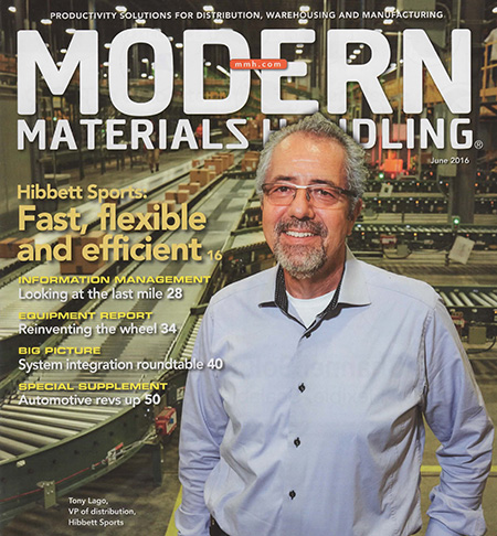 Modern Materials Handling June 2016 Cover Story Hibbett Sports