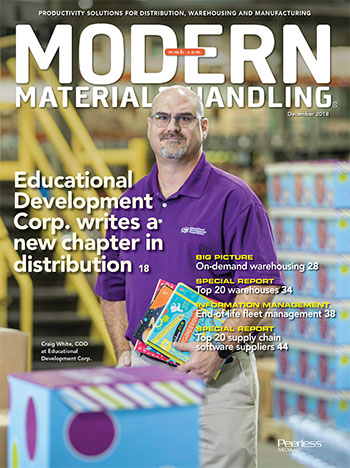 Pick-to-Light Modules from Lightning Pick Featured in December Modern Materials Handling Cover Story