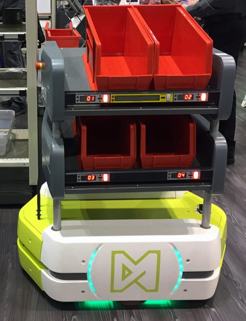 Matthews Automation Solutions | Lightning Pick Exhibit Solutions, Ways Autonomous Mobile Robots Optimize Picking at 2019 Manhattan Momentum Conference